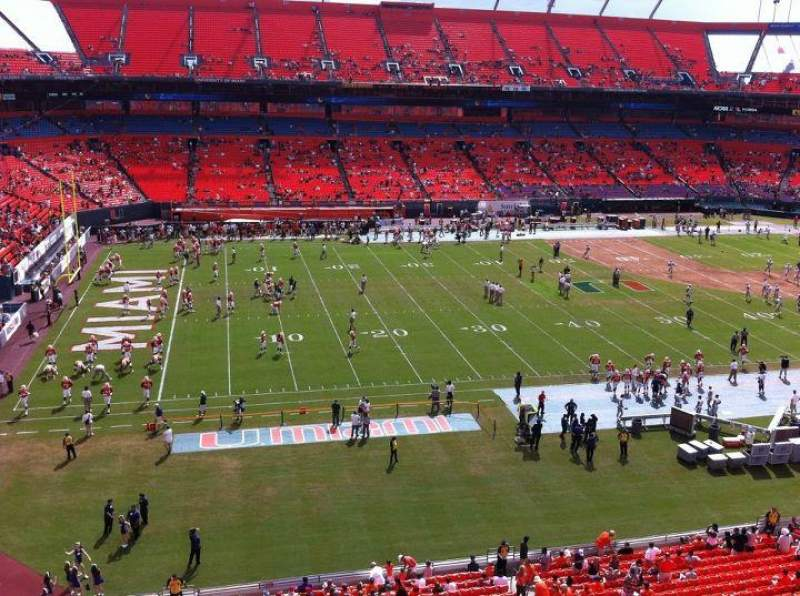 Seating view for Sun Life Stadium Section 117 Row 1 Seat 1