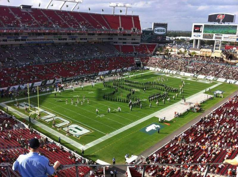 Seating view for Raymond James Stadium Section 327 Row A Seat 7