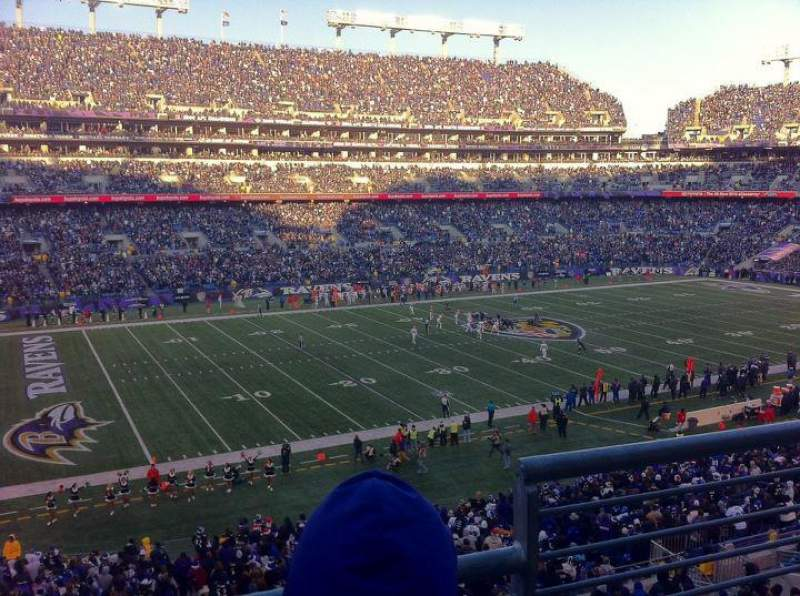 Seating view for M&T Bank Stadium Section 231 Row 2 Seat 1