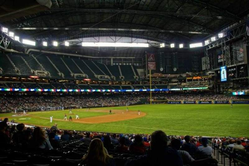 Seating view for Chase Field Section 112 Row 34 Seat 1