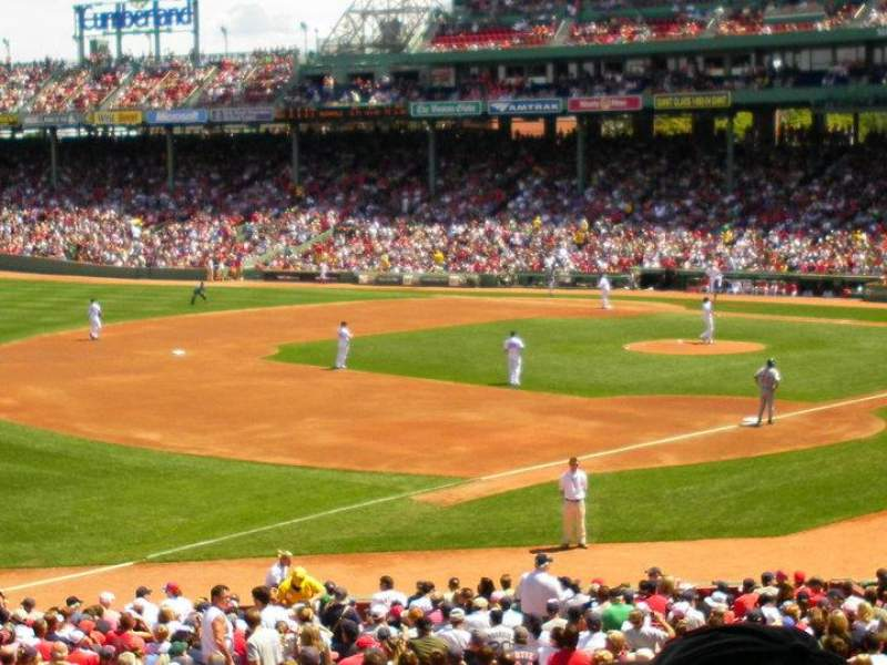Seating view for Fenway Park Section Grandstand 30 Row 5 Seat 16