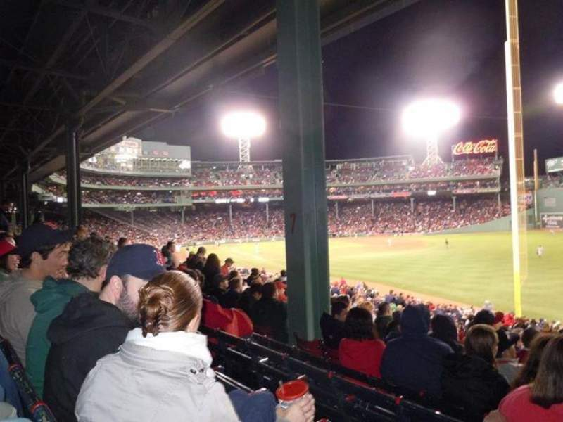 Seating view for Fenway Park Section Grandstand 7 Row 5 Seat 3