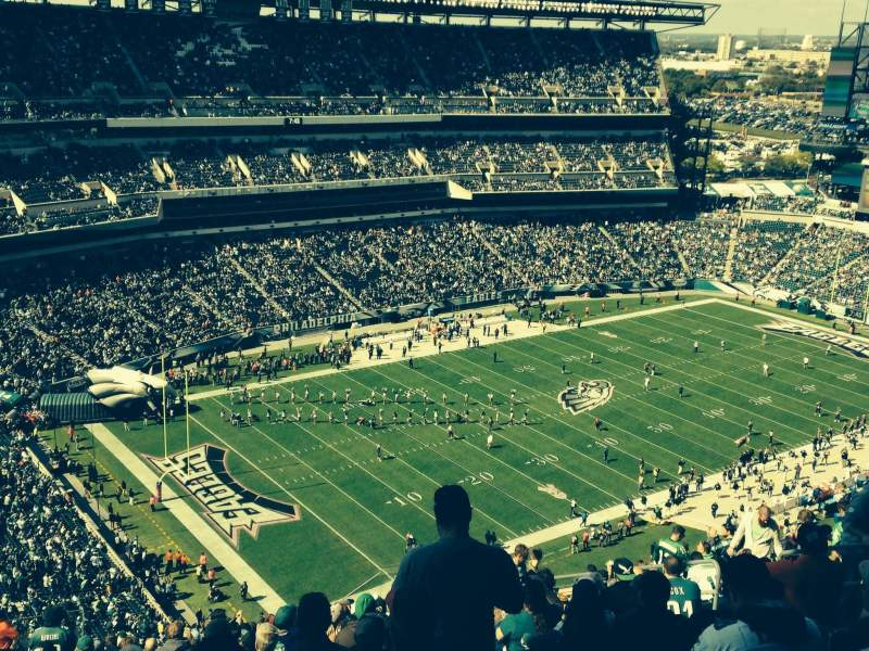 Seating view for Lincoln Financial Field Section 219 Row 27 Seat 13