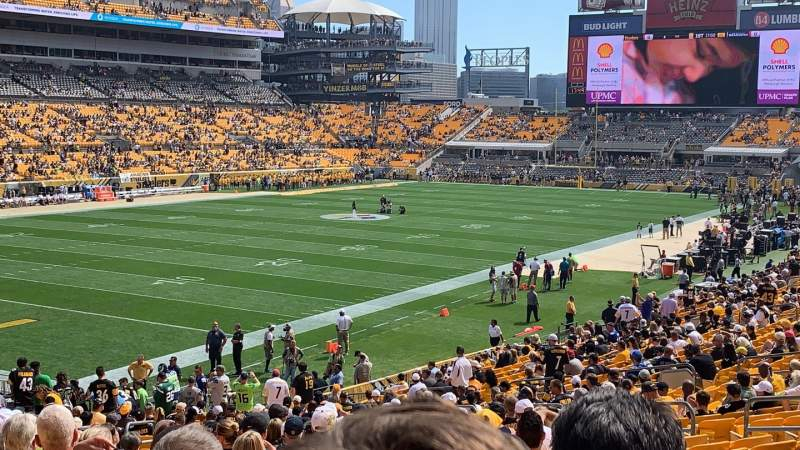 Seating view for Heinz Field Section 128 Row V Seat 14