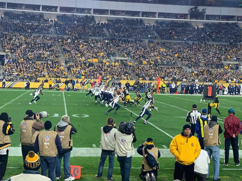 Seating view for Heinz Field Section 131 Row B Seat 3