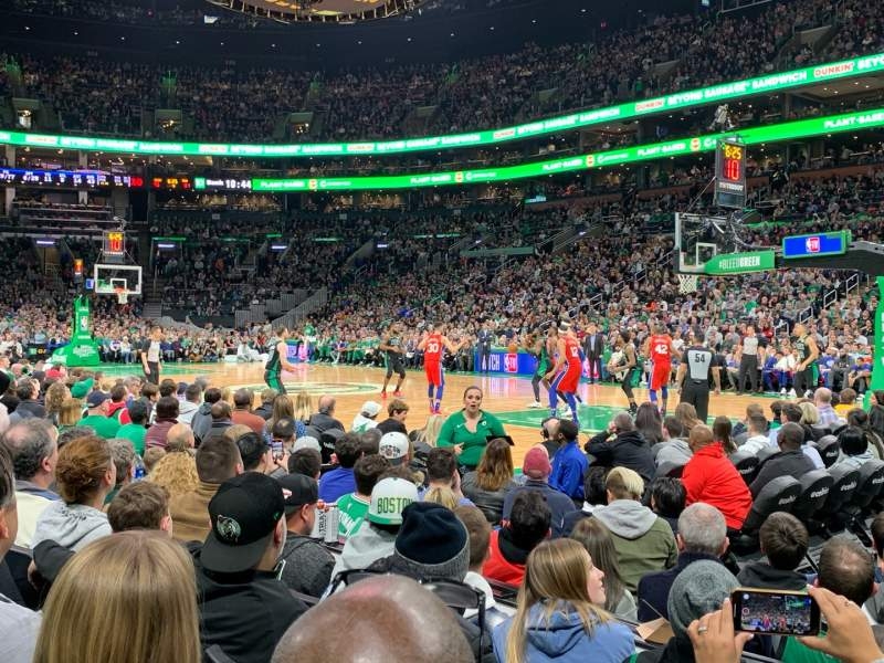 Td Garden Section Loge 10 Row 4 Seat 1 Boston Celtics