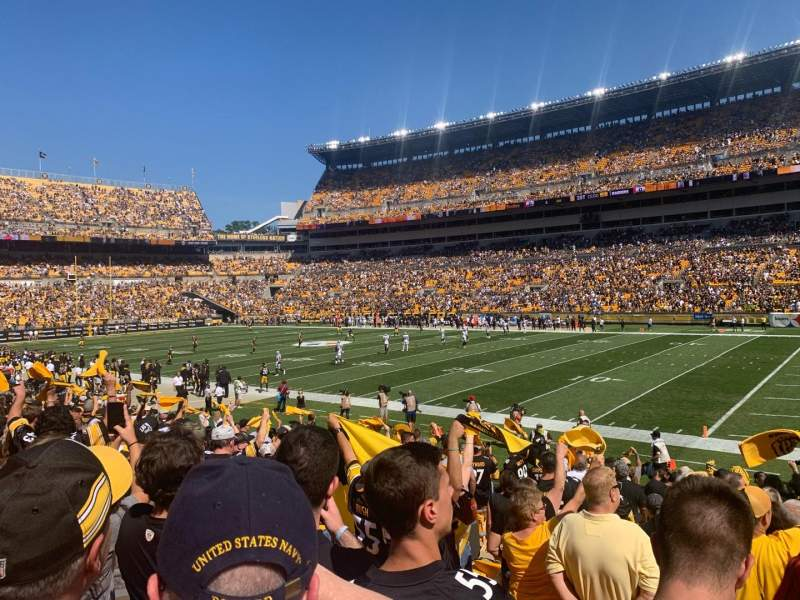 Seating view for Heinz Field Section 139 Row P Seat 17