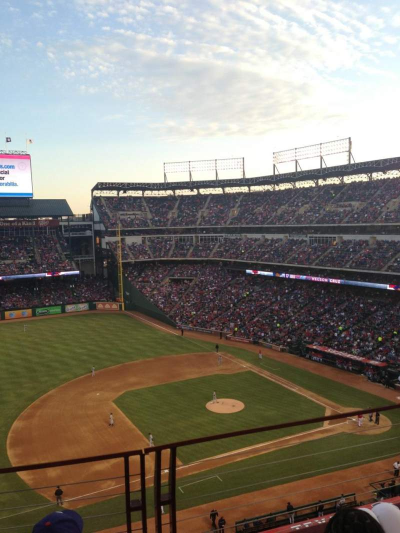Seating view for Globe Life Park in Arlington Section 316 Row 3 Seat 8