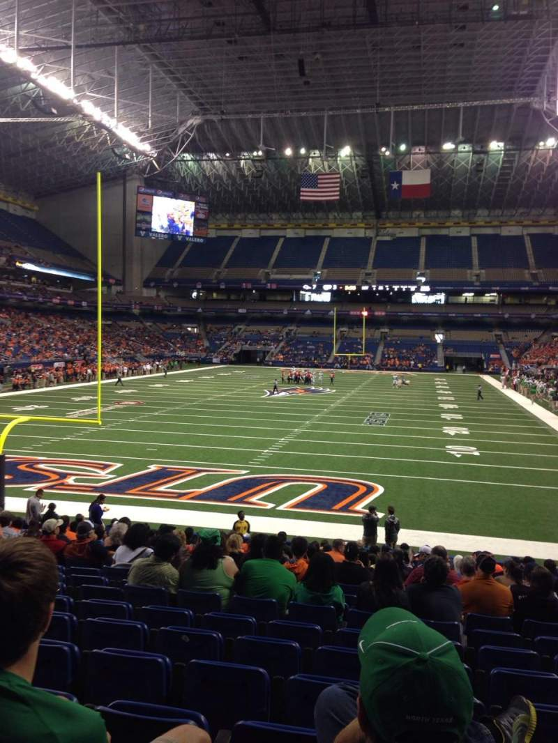 Seating view for Alamodome Section 144 Row 17 Seat 5