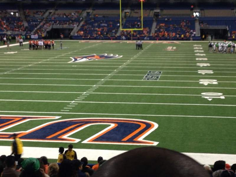 Seating view for Alamodome Section 144 Row 17 Seat 6