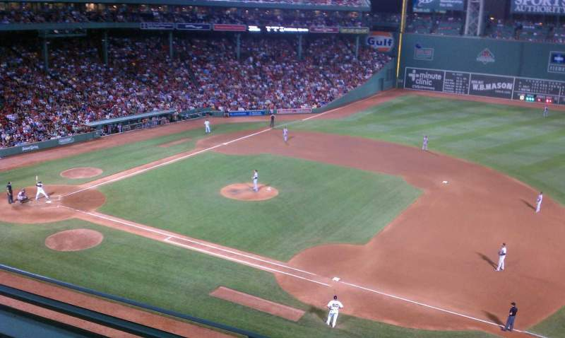 Seating view for Fenway Park Section Pavilion 9 Row 2 Seat 6