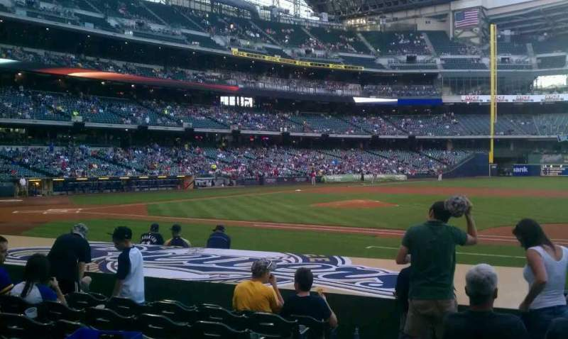 Seating view for Miller Park Section 112 Row 11 Seat 2