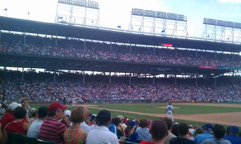 Seating view for Wrigley Field Section 134 Row 1 Seat 104