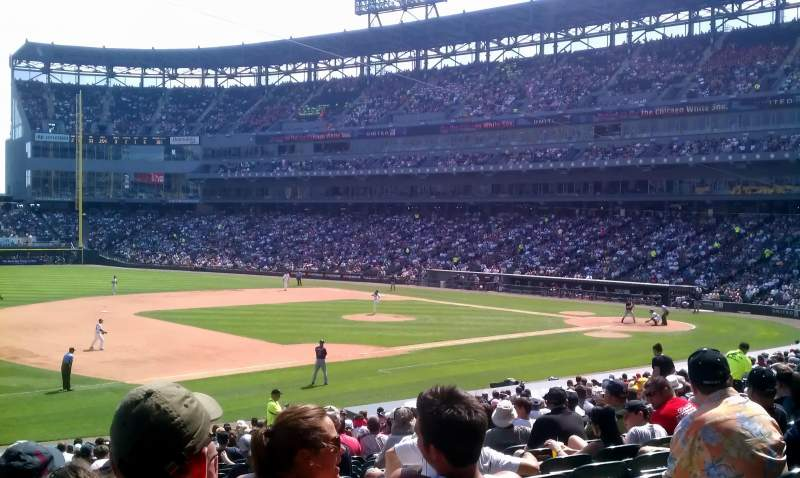 Seating view for Guaranteed Rate Field Section 145 Row 30 Seat 6