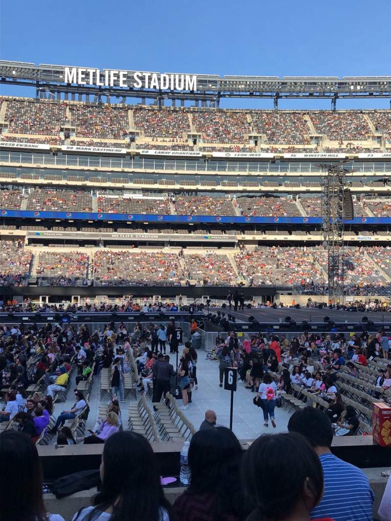Seating view for MetLife Stadium Section 139 Row 9 Seat 26