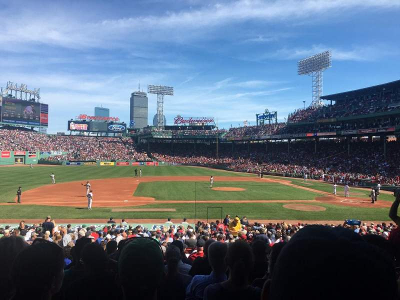 Seating view for Fenway Park Section Grandstand 26 Row 1 Seat 7