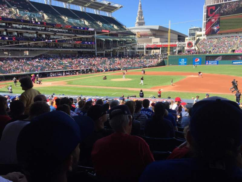 Seating view for Progressive Field Section 140 Row AA Seat 3