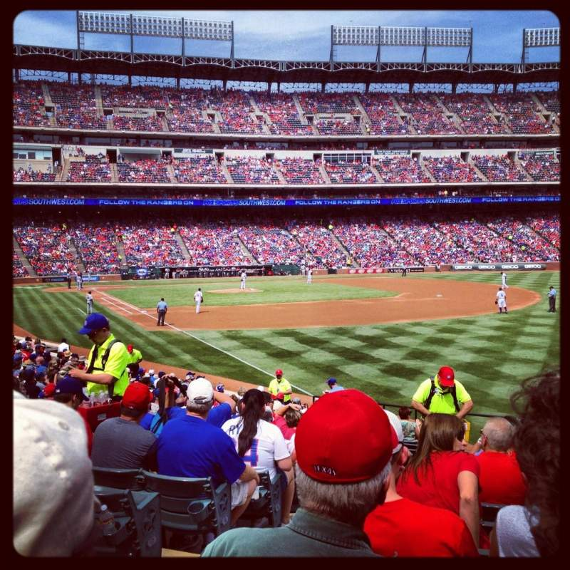 Seating view for Globe Life Park in Arlington Section 40 Row 20 Seat 1