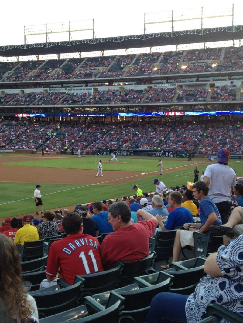Seating view for Globe Life Park in Arlington Section 14 Row 14 Seat 11