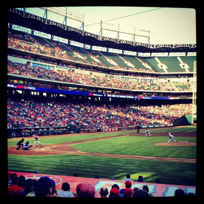 Seating view for Globe Life Park in Arlington Section 33 Row 14 Seat 8