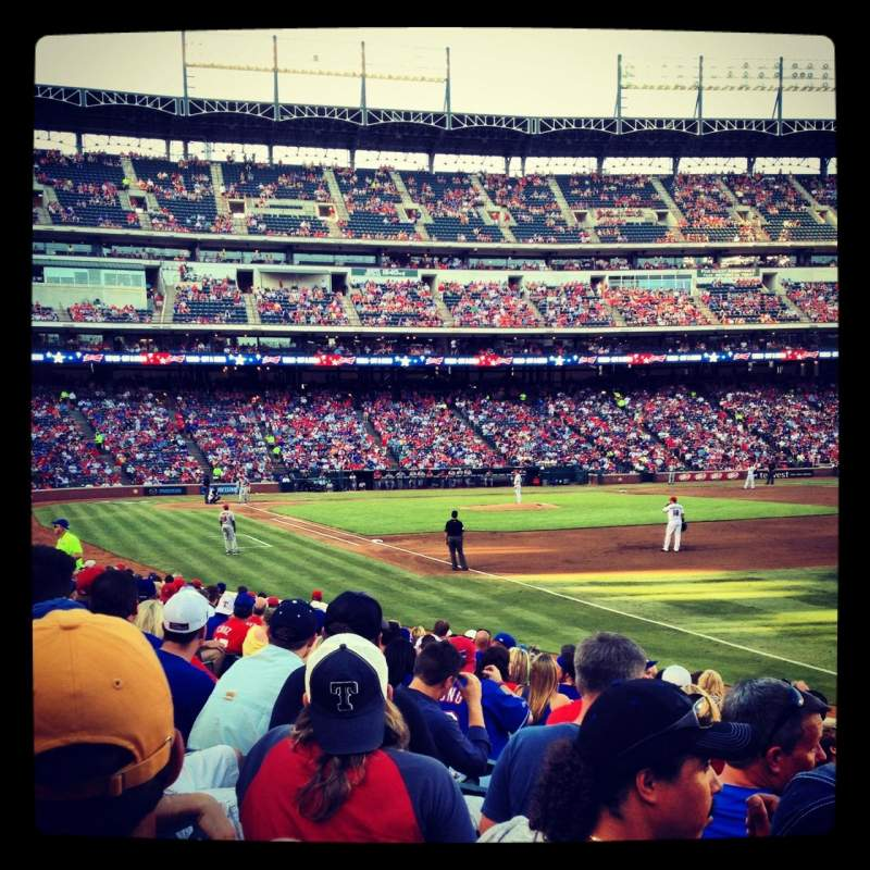 Seating view for Globe Life Park in Arlington Section 38 Row 13 Seat 14