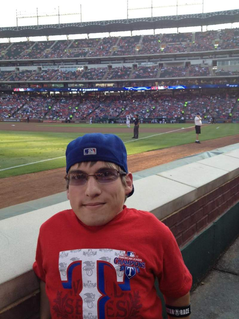Seating view for Globe Life Park in Arlington Section 14 Row 1 Seat 6