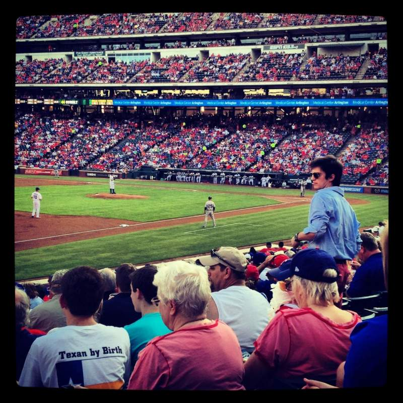 Seating view for Globe Life Park in Arlington Section 15 Row 16 Seat 18
