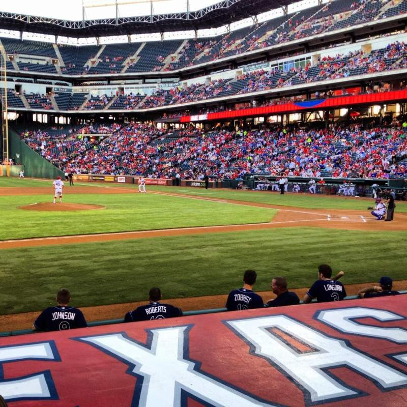 Seating view for Globe Life Park in Arlington Section 19L Row 7 Seat 10