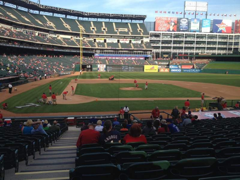 Seating view for Globe Life Park in Arlington Section 31 Row 23 Seat 1