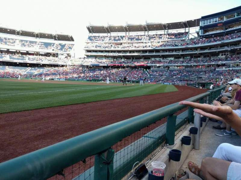 Seating view for Nationals Park Section 111 Row A Seat 12