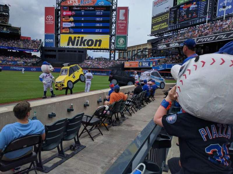 Seating view for Citi Field Section 111 Row D Seat 1