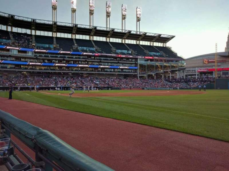 Seating view for Progressive Field Section 131 Row A Seat 4