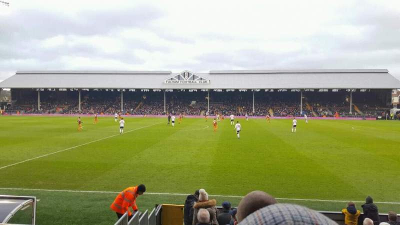 Seating view for Craven Cottage Section W Row E Seat 16