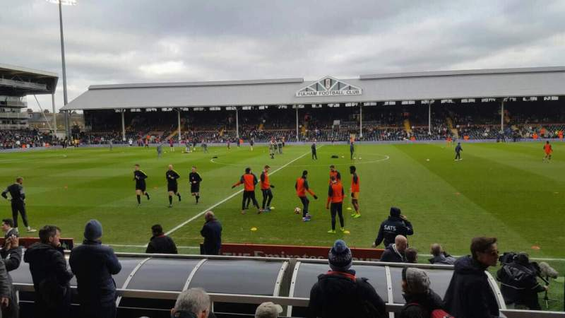 Seating view for Craven Cottage Section W Row E Seat 25