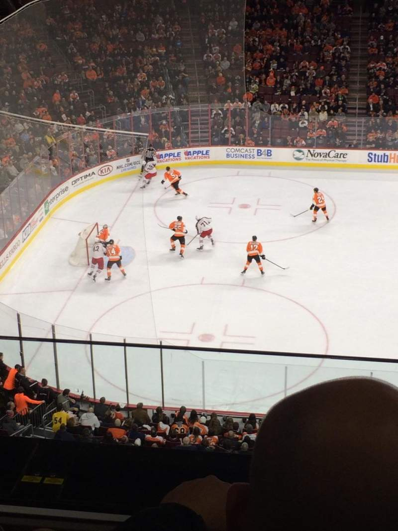 Seating view for Wells Fargo Center Section 223 Row 2 Seat 22