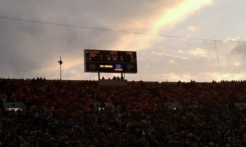 Seating view for Notre Dame Stadium Section 10 Row D Seat 16