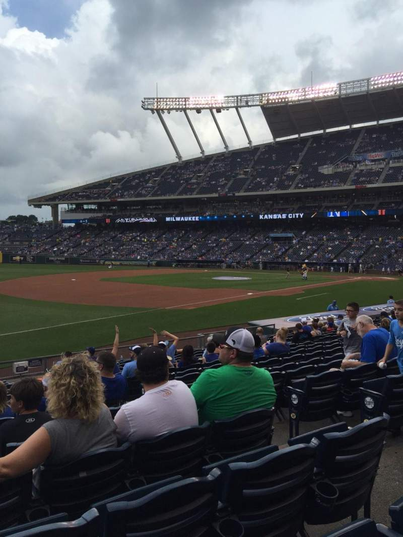 Seating view for Kauffman Stadium Section 114 Row S Seat 8