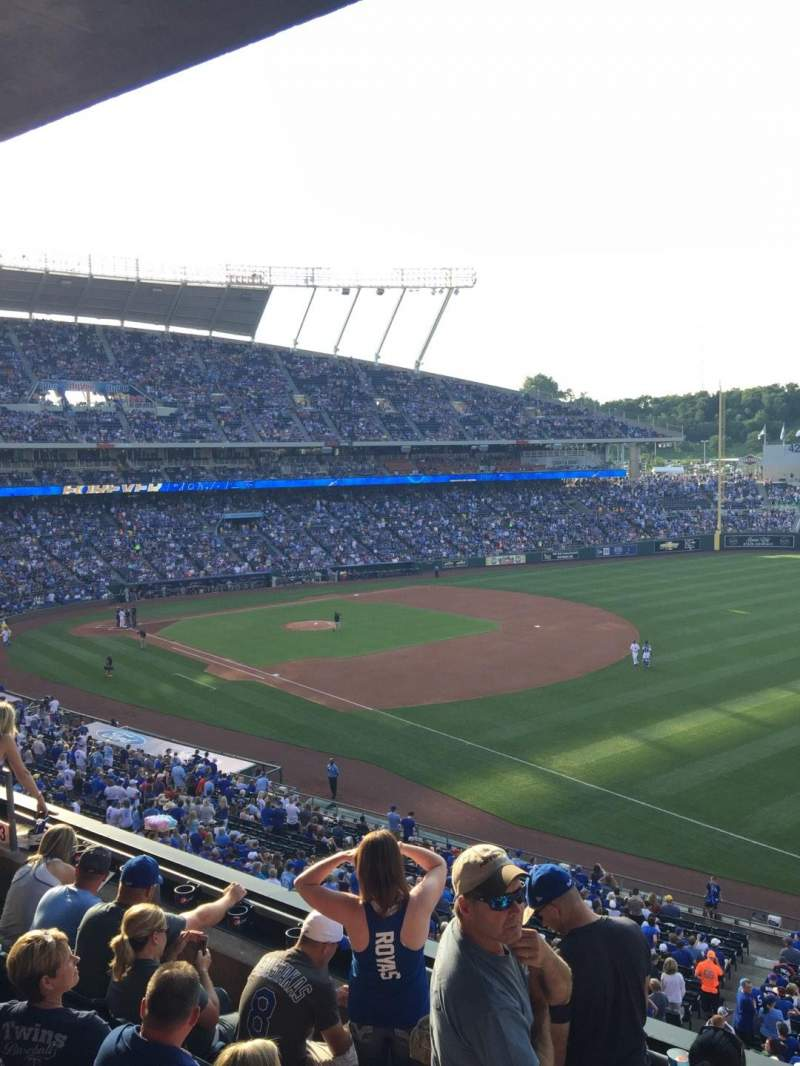 Seating view for Kauffman Stadium Section 323 Row E Seat 13