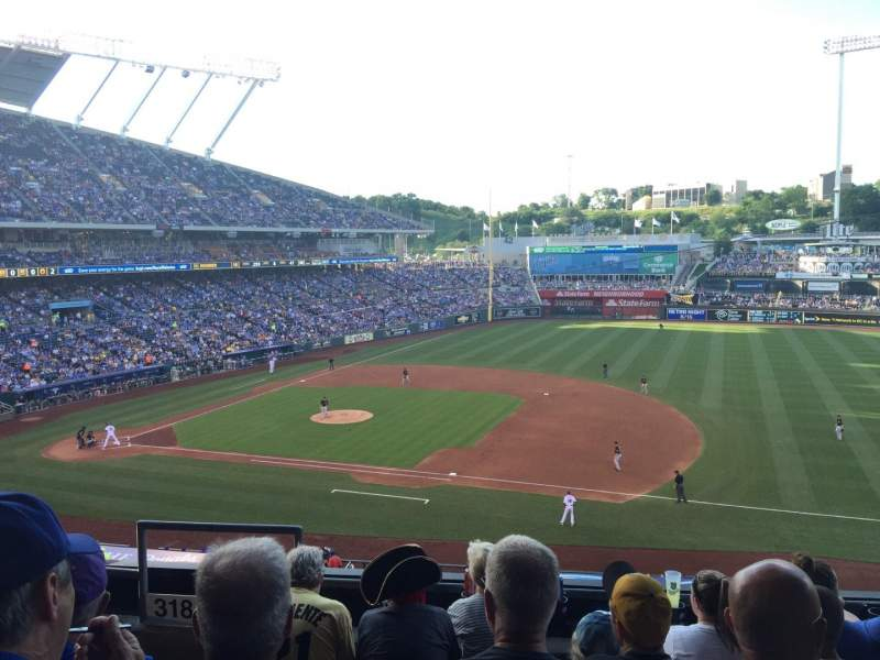 Seating view for Kauffman Stadium Section 319 Row E Seat 1-3