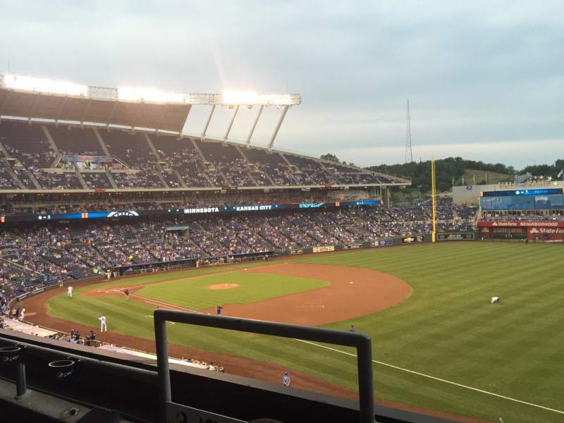 Seating view for Kauffman Stadium Section 323 Row B Seat 3-4