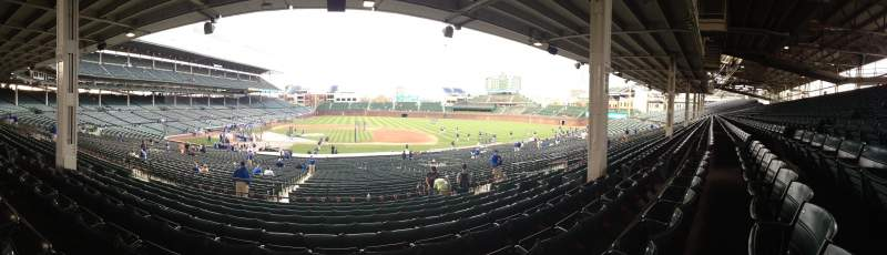 Seating view for Wrigley Field Section 229 Row 10 Seat 112