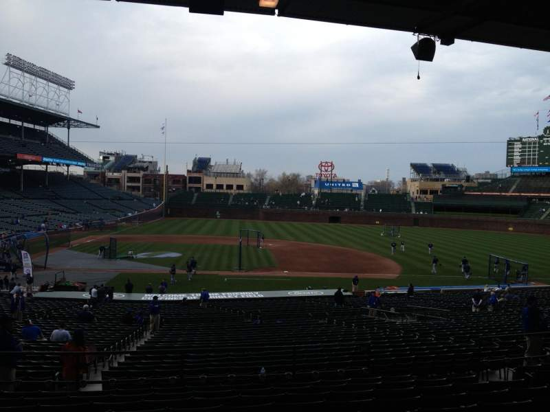 Seating view for Wrigley Field Section 229 Row 10 Seat 110