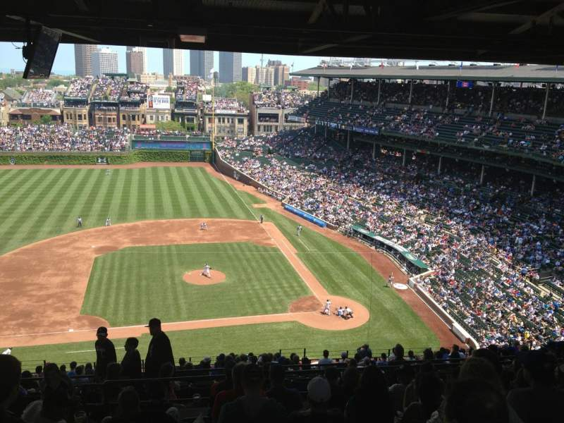 Seating view for Wrigley Field Section 514 Row 9 Seat 4