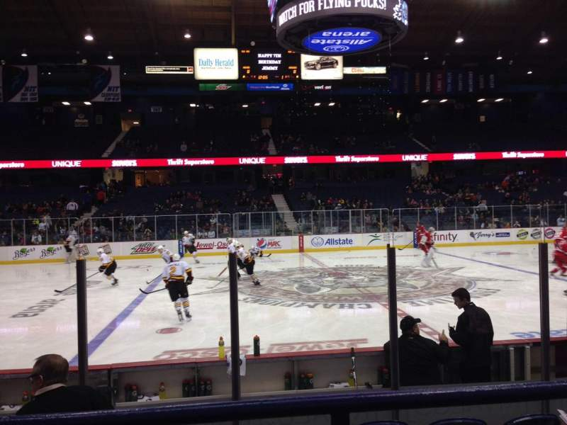 Seating view for Allstate Arena Section 111 Row B Seat 9