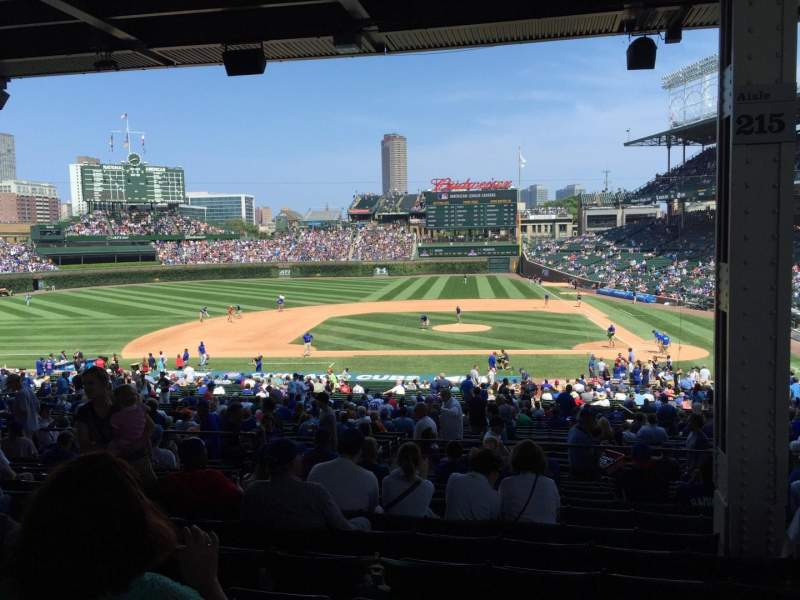Seating view for Wrigley Field Section 215 Row 12 Seat 6