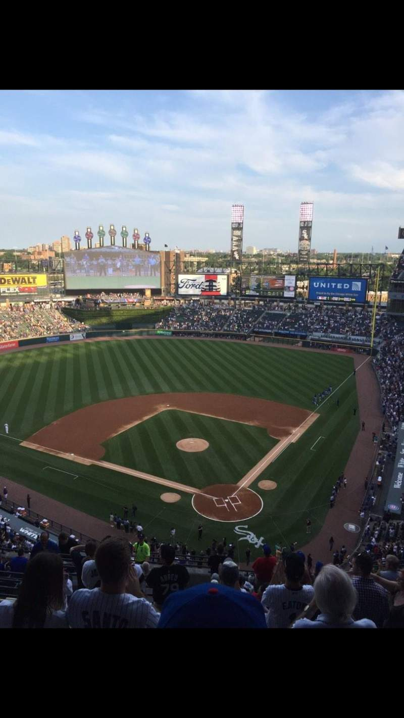 Seating view for Guaranteed Rate Field Section 534 Row 15 Seat 17