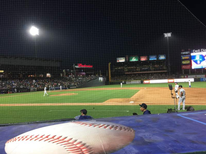 Dell Diamond, section: 124, row: 6, seat: 4