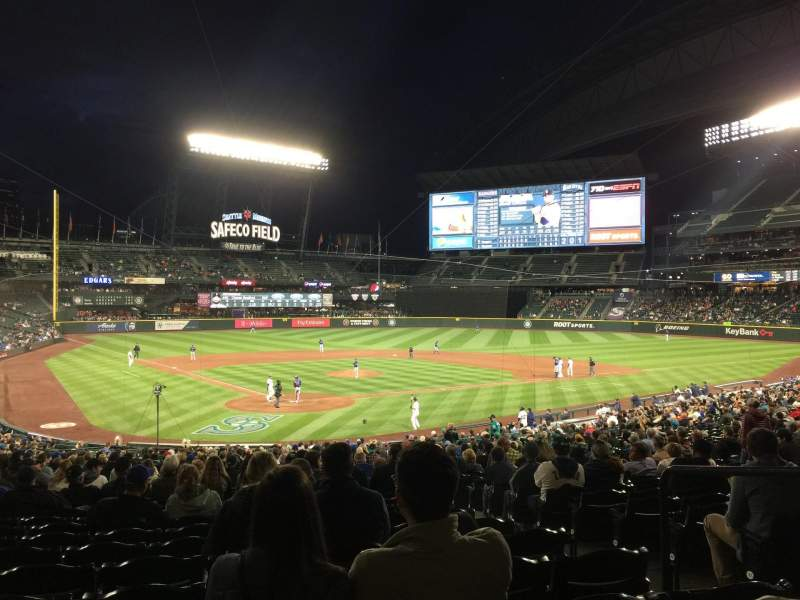 Seating view for T-Mobile Park Section 128 Row 36 Seat 1