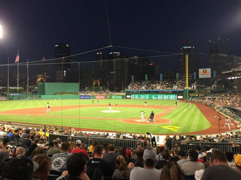 PNC Park, section: 119, row: L, seat: 5
