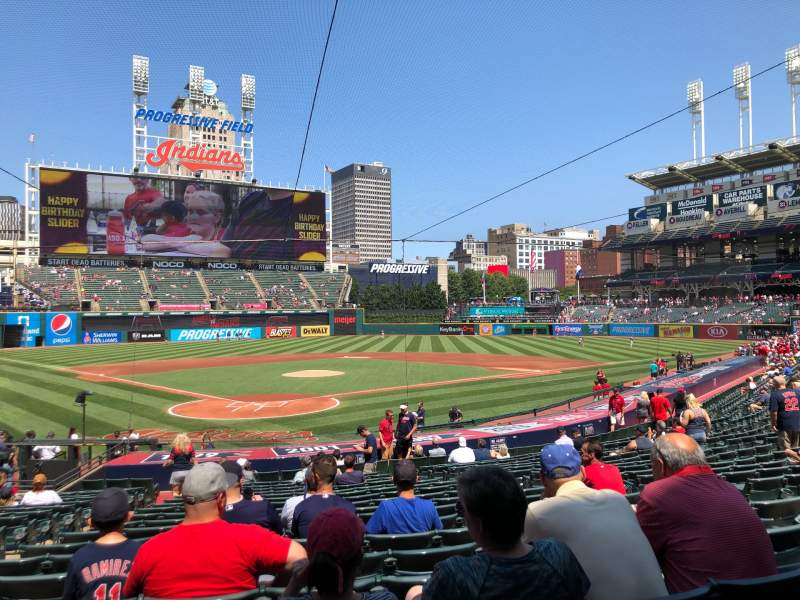 Seating view for Progressive Field Section 152 Row AA Seat 9